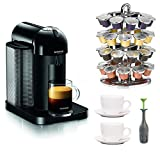 Nespresso VertuoLine (Black) with Coffee Pack Drawer and Accessory Kit