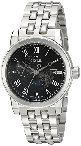 Gevril-Mens-2527-CORTLAND-Analog-Display-Swiss-Quartz-Silver-Watch