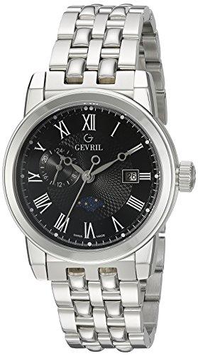 Gevril-Mens-2527-CORTLAND-Analog-Display-Swiss-Quartz-Silver-Watch
