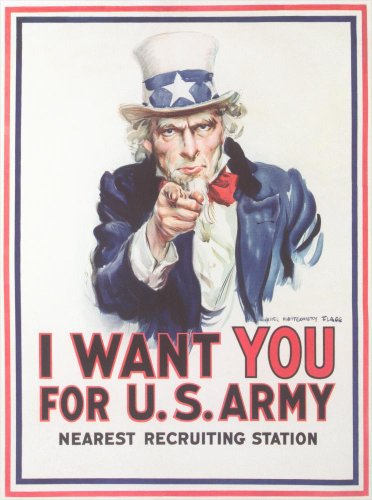 Vintage Army Recruiting Poster Wall Mural - 52 Inches H X 39 Inches W - Peel And Stick Removable Graphic front-816418
