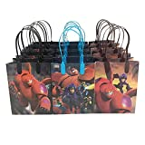 Disney Big Hero 6 Premium Quality Party Favor Goodie Small Gift Bags 12 (12 Bags)