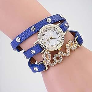 Kissu Blue Color Designer Bracelet Love Watch