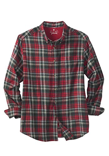 Kingsize Men's Big & Tall Holiday Flannel Shirt 5Xl