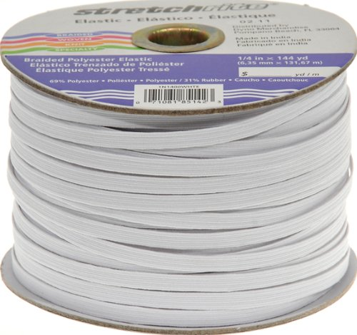 Find Cheap Stretchrite 1/4-Inch by 144-Yard White Braided Polyester Elastic Spool