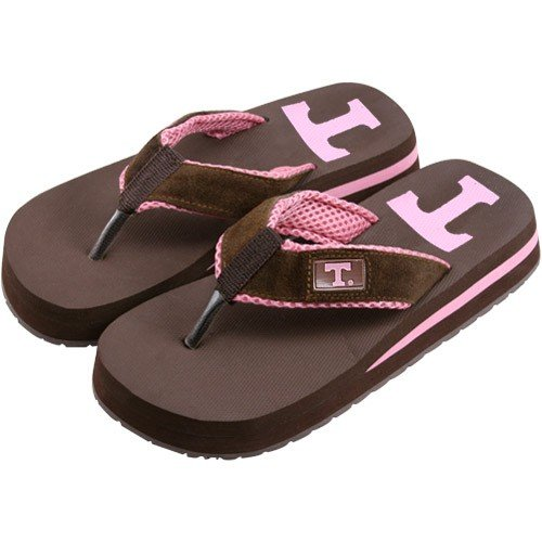 Cheap Tennessee Volunteers Two Tone Ladies Suede Flip Flops (B000RURQN2)