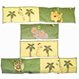 NoJo Traditional Bumper, Jungle Babies (Discontinued by Manufacturer)