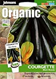 Johnsons Seeds - Pictorial Pack - Vegetable - Courgette Black Beauty (ORGANIC) - 10 Seeds