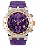 Mulco MW1-29851-151 Stainless Steel Chronograph Nefesh Collection Purple Dial Watch