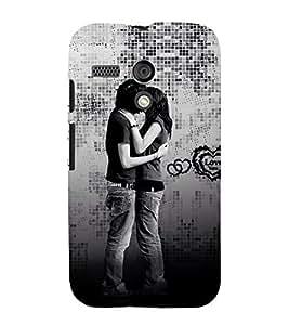 Beautiful Kiss moment 3D Hard Polycarbonate Designer Back Case Cover for Motorola Moto G X1032 :: Motorola Moto G (1st Gen)