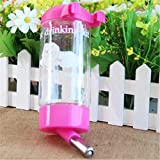 Automatic Travel Home Cat Dog Puppy Water Drinking Bottle Feeder Pink