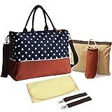 KF Baby Luv Diaper Bag Value Set, with Crossbody bag strap, Stroller hooks, more