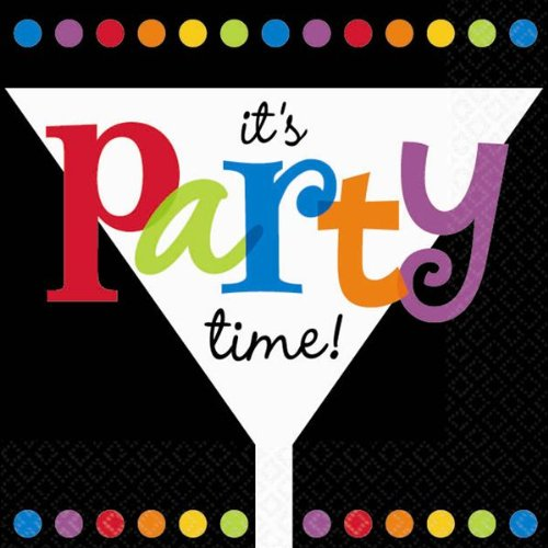It's Party Time Beverage Napkins (16 per package)