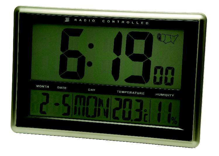 Amazon Com Extech Cth10 Radio Controlled Wall Clock Hygro