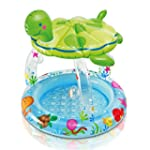 Intex Sea Turtle Baby Pool with Sun S...