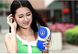 Portable Fan Handheld Mini Air Conditioner Cool Cooling Desk Fan Travel USB Rechargeable Packet Cooler Student Style Gift for Birthday Events Holiday Camping Outdoor Qbzag