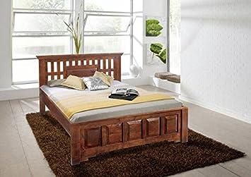 Kolonialstil Bett 160x200 Akazie Holz massiv OXFORD CLASSIC #262