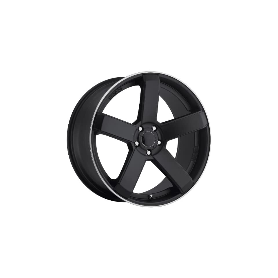 Dropstars 644B 22 Black Wheel / Rim 5x115 & 5x120 with a 20mm Offset and a 74.1 Hub Bore. Partnumber 644B 2295520