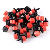 "50pcs Adjustable Irrigation Sprinklers Emitter Drip System on 1/4"" Barb"