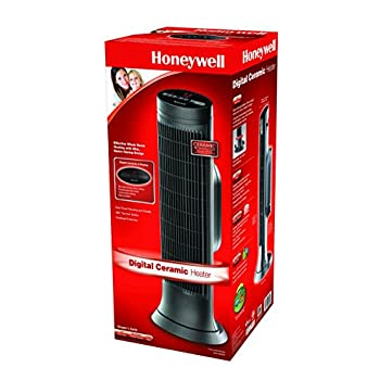 Honeywell HCE322V Digital Ceramic Whole Room Tower Heater, Black