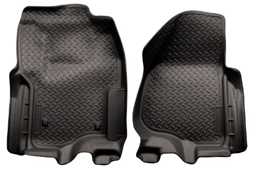 Husky Liners Classic Style Custom Fit Molded Front Floor Liner for Select Ford F-250 /F-350 Models (Black) (Husky Floor Mats Ford F250 compare prices)