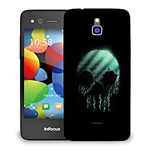 Snoogg Neon Skull Designer Protective Back Case Cover For INFOCUS M2