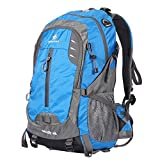 Vanwalk 40L Cycling Hiking Backpack Sunhiker Water Resistant Travel Backpack Durable Light Hiking Daypack for Men and Women (Blue)