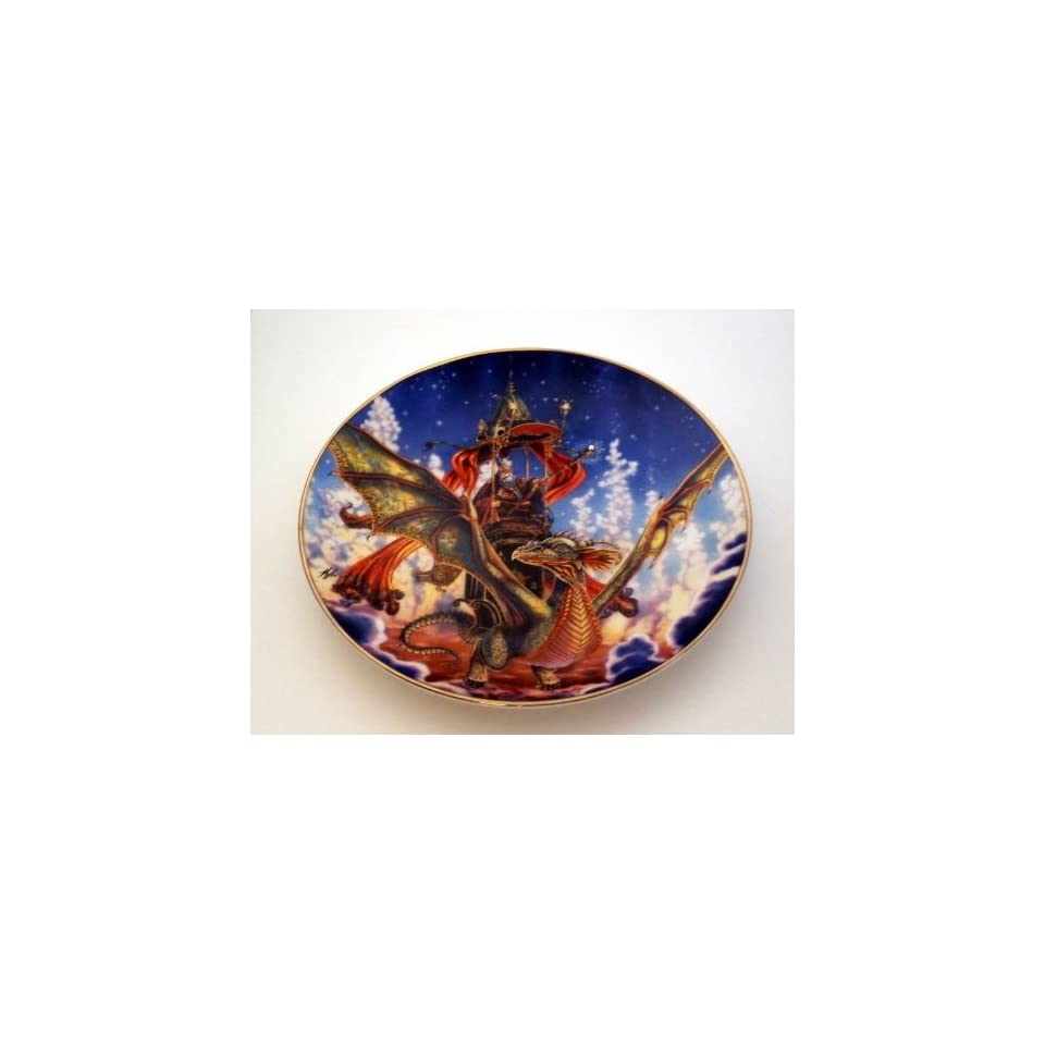 Dragon Flight Collectible Plate by Myles Pinkney from The Franklin Mint Heirloom Recommendation Royal Dalton Limited Edition Fine Bone China Plate Number RA8668