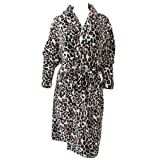 Ladies/Womens Leopard Print Super Soft Robe Dressing Gown (Large) (Leopard)