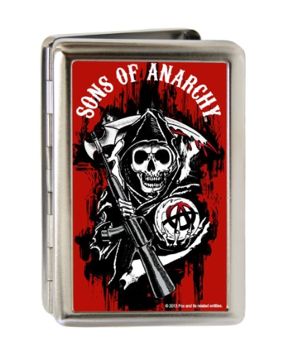 Sons of Anarchy Reaper Logo Large Business Card Holder (Business Card Holder Shark compare prices)