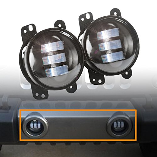 2pcs-4-Inch-30w-Cree-Led-Fog-Lights-Len-Projector-for-Jeep-Tractor-Boat-Led-Fog-Lamps-Bulb-Auto-Led-Headlight-Driving-Offroad-Lamp-for-Jeep-Wrangler-Dodge-Chrysler-Front-Bumper-Lights