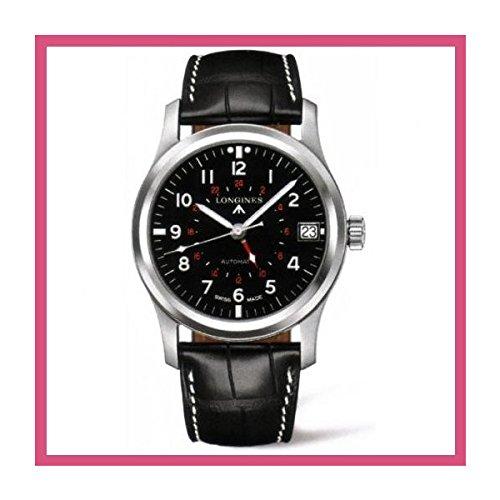 海外 人気 Longines Heritage Avigation Black Dial Automatic Men's Watch メンズ 日本未入荷 腕時計 限定品 モデル セレブ愛用[並行輸入品]