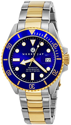 henry-jay-mens-analog-quartz-23k-gold-plated-two-tone-stainless-steel-aquamaster-dive-watch