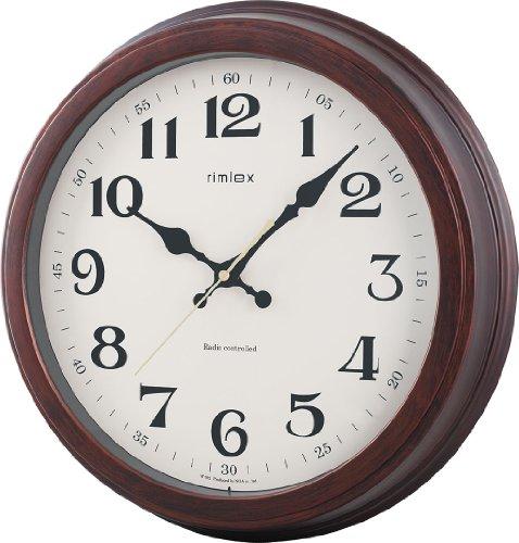 NOA 電波時計Exxtral(エクストラル) 掛け時計 ブラウン W-592 BR