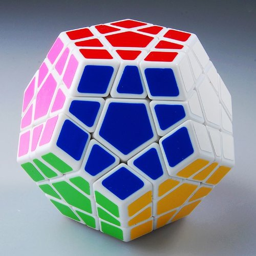 Millionaccessories Megaminx Cube Speed Puzzle White - 1