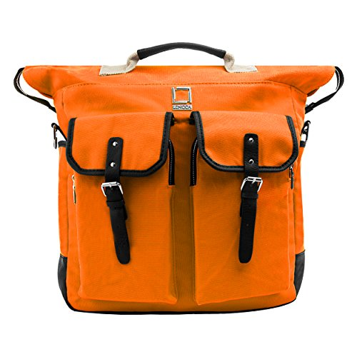 Lencca discount duty free Limited Edition Lencca Phlox 2 in 1 Laptop Backpack and Messenger Bag (Orange)