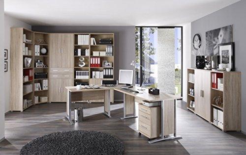 11-teiliges-Bro-Arbeitszimmer-Brombel-mit-Winkelschreibtisch-Rollcontainer-Highboard-und-grosser-220-cm-hoher-Schrank-Regalwand