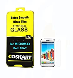 Coskart Tempered Glass For Micromax Bolt 069