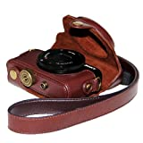 Protective Leather Case Bag For Sony DSC-RX100M II Cyber-shot Digital Still Camera/Coffee