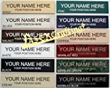 """Office Desk Name Plate or Wall / Door Sign - 2""""x10"""" - Laser Engraved Sign"""