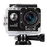 「SJCAM正規品」 SJ4000 スポーツカメラ WiFi搭載 30m防水 170度広角レンズ 1080P 液晶画面 HD動画対応 ハルメット式 コンパクトカメラ(ブラック)