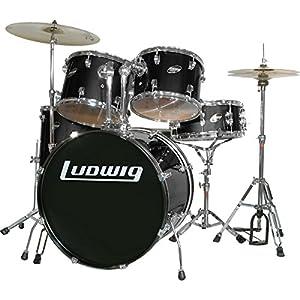 Ludwig Accent Combo with Zildjian ZBT Cymbal Set Black
