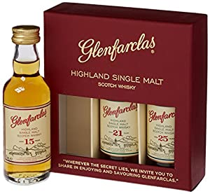 Glenfarclas Mini Tri Pack 15/ 21/ 25 Year Old Whisky 5 cl (Case of 3) by Glenfarclas