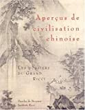 echange, troc Institut Ricci de Paris - Aperçus de civilisation chinoise