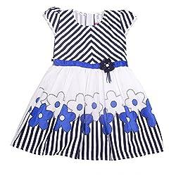 Yashasvi Girl's Flowery Cotton Dress