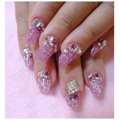 Dried Flower Nail Art Decoration Mixed Colours Shapes in Case