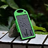 Lufei Solar Panel Charger 12000mah Rain-resistant and Dirt/shockproof Dual USB Port Portable Charger Backup External Battery Power Pack for Iphone 5s 5c 5 4s 4, Ipods(apple Adapters Not Included), Samsung Galaxy S5 S4, S3, S2, Note 3, Note 2, Most Kinds of Android Smart Phones ,Windows Phone and More Other Devices (12000m-green)