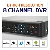 1000GB / 1TB 8 Channel H264 CCTV DVR with iPhone, Android and Blackberry Mobile Phone Remote Viewing. The heart of your CCTV Camera System, this Digital Video Recorder is PC, Smartphone and MAC OS Compatible. FREE PC Software worth £49.99 and FREE Mobil