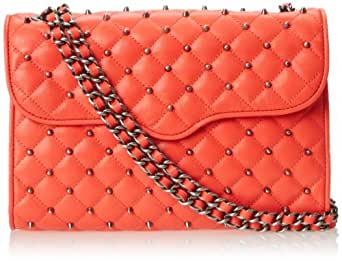 Rebecca Minkoff Quilted Affair With Studs Shoulder Bag,Hot Red,One Size