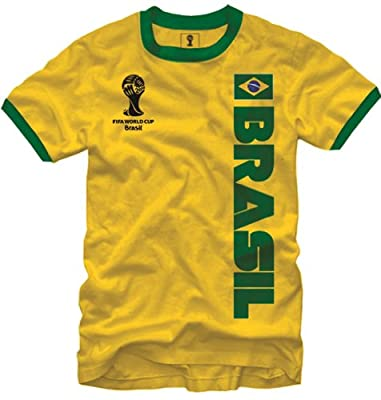 FIFA World Cup Soccer - Brasil - Ringer T-Shirt (Medium)