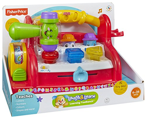 Fisher price laugh learn learning tool bench christmas toy store Fisher price tool bench